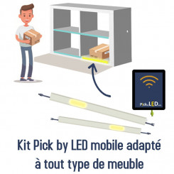 Kit Pick by LED Meuble de tri mobile