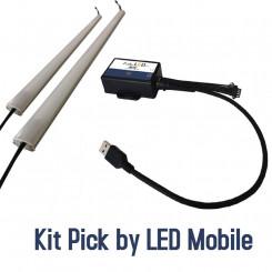 Matériel de démonstration Pick by LED avec guidage lumineux.